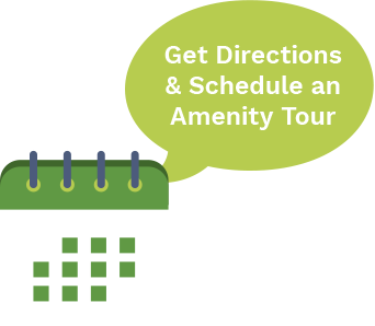 get directions and schedule an amenty tour