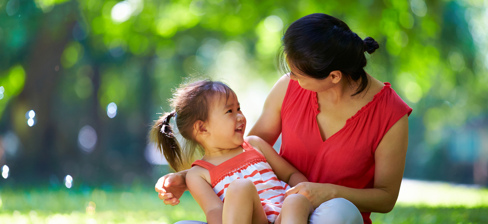 Child smiling at mom