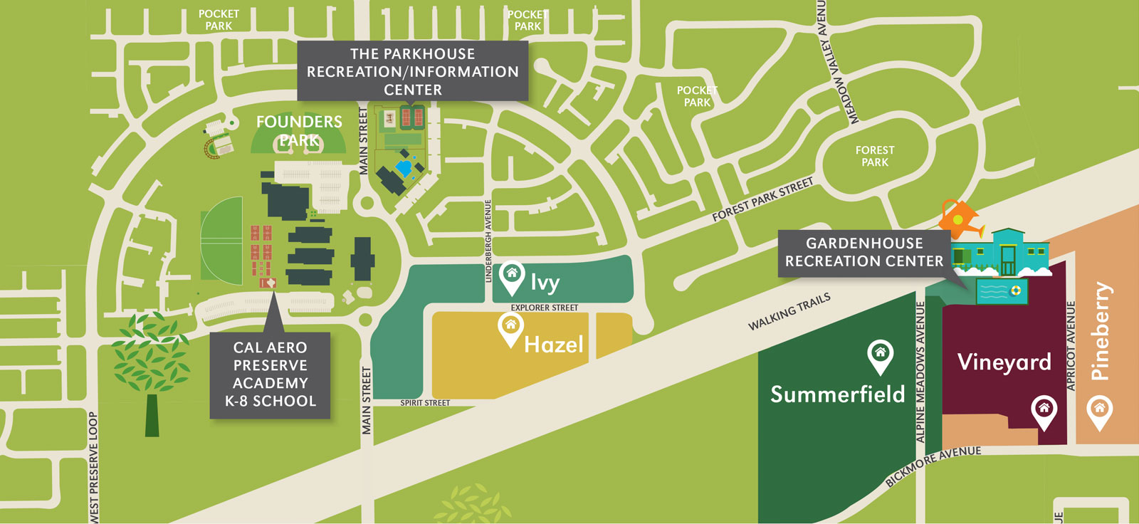 The Preserve at Chino site map