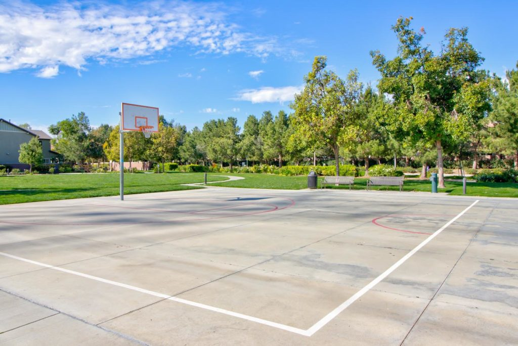 Meridian Park basketball courts at The Preserve at Chino