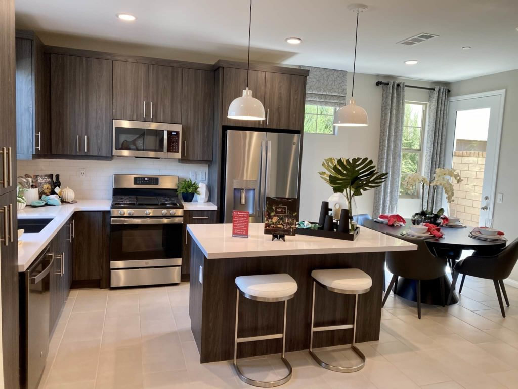 Kitchen to Dining Room | Gardenside| New homes in Chino, California| The Preserve