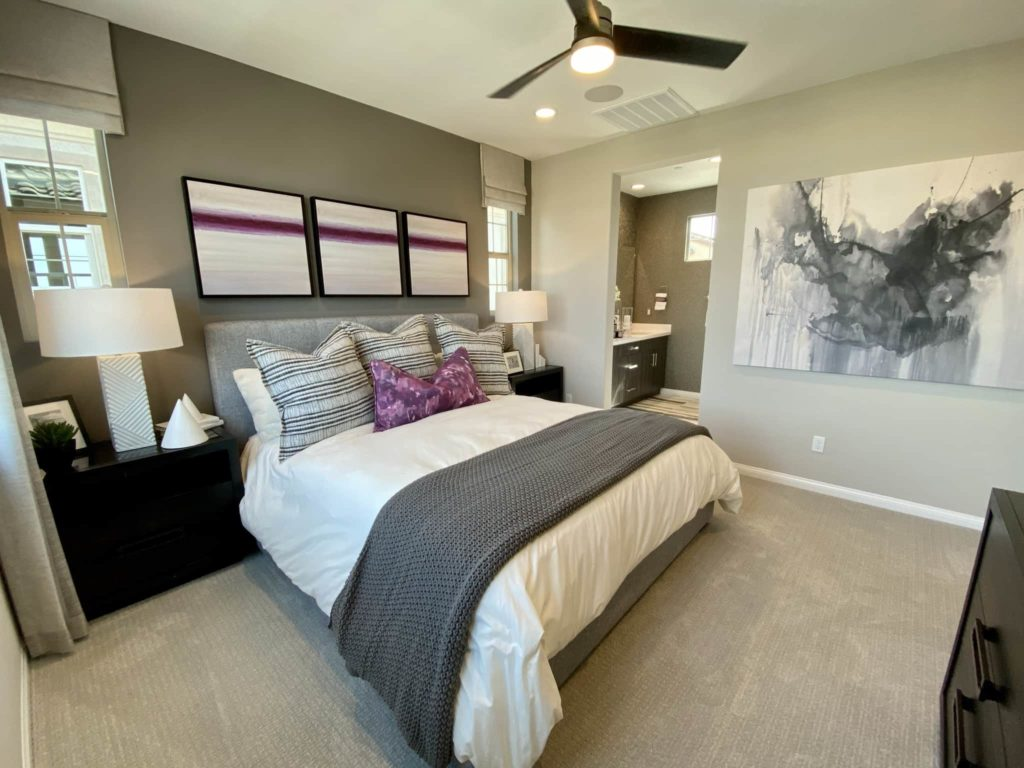 Primary Bedroom to Primary Bathroom | Gardenside| New homes in Chino, California| The Preserve