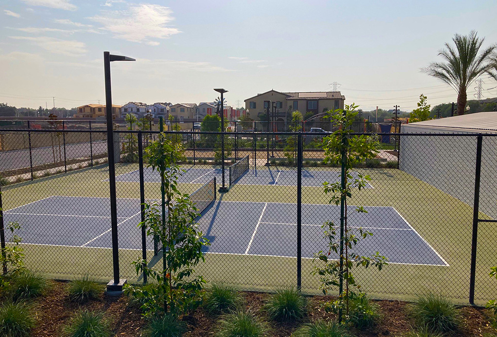 tennis courts at The Meadowhouse