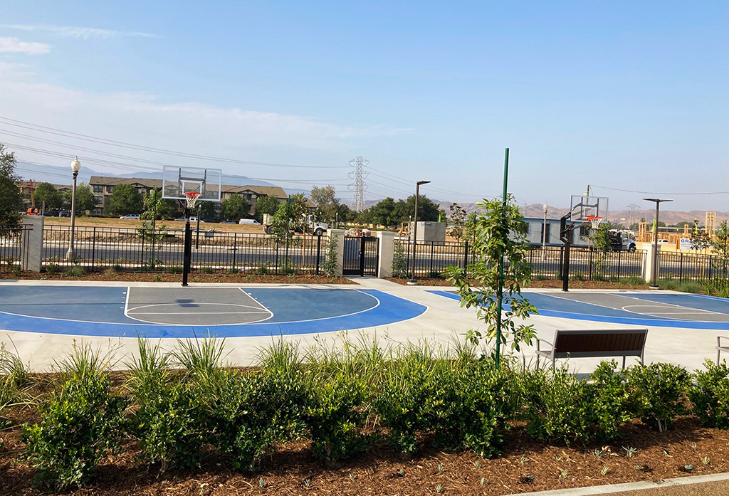 basketball courts at The Meadowhouse