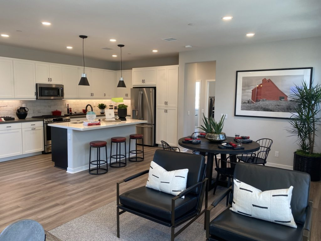 delia open kitchen and dining room layout